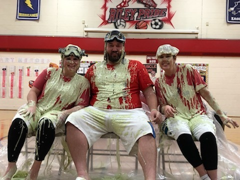 Mrs. Mortimer, Mr. Rogers and Mrs. McAllister Slimed!